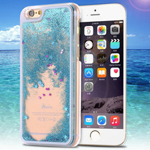 New Fashion Liquid Glitter meteor sand sequins Colorful Dynamic Transparent Hard Mobile Phone cases For iphone 6/6Plus