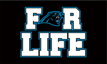 3x5ft cheap polyester Carolina Panthers for life with blue outline flag with 2 metal grommets