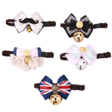 Dog Cat Pet Bowknot Tie Lovely Adorable sweetie Grooming Collars Necklace With Bell Tie Necktie Wear Pet Product EJ875661