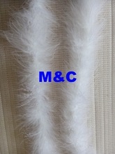 Free Shipping 5pc White Turkey Feather Boas Marabou Feather strips Chicken Feather scarf/ribbons for Party Accessory