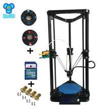 the newest design HE3D full metal extruder hotend K200 delta 3d printer kit- support multi material
