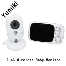Yumiki 2.4G Wireless 3.2 inch Wireless Video Color Baby Monitor High Resolution Baby Security Camera Night Vision(China)
