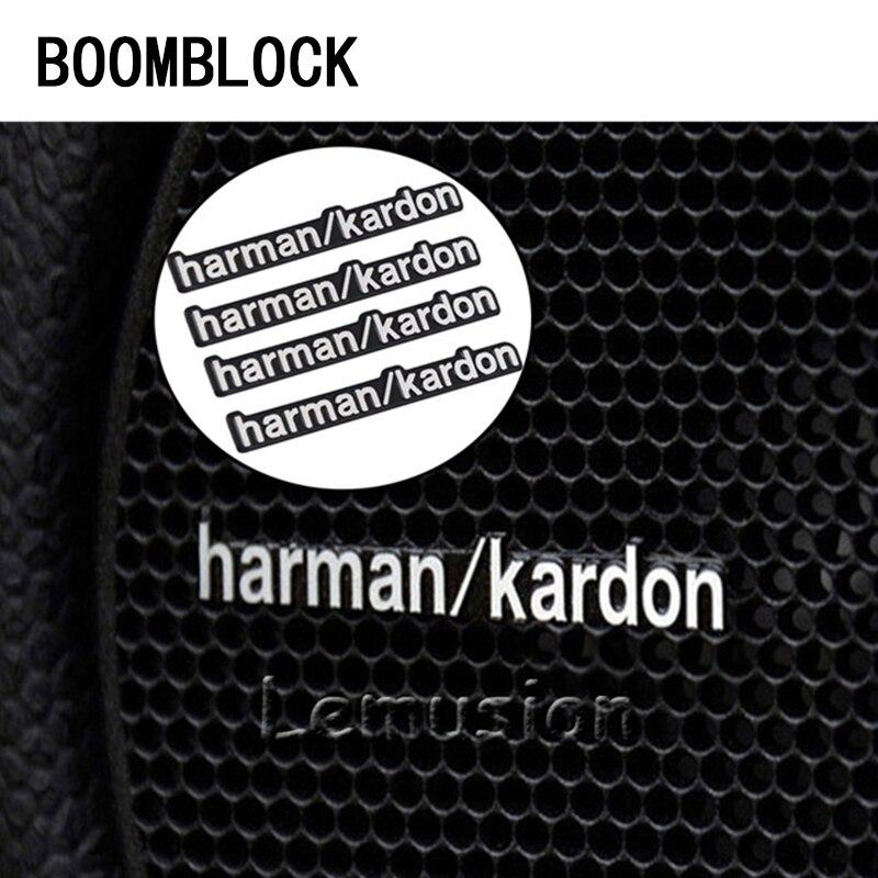 4X Harman Kardon Emblems Badges Stickers harman//kardon for Audio Speakers Grill