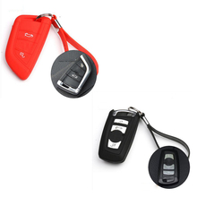 Keyless Entry Remote Key Fob Skin Case Protector Holder Car Key Cover Ring for BMW 523 528 535 730li X3 X5 X6 4 5 7 Series(China)