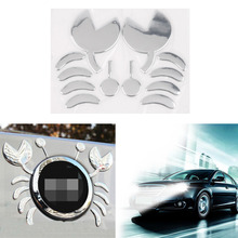 Funny 3D Car Stickers PVC Flexible Plastic Crab Car Decoration Sticker for Volkswagen for Benz for Toyota for Chevrolet Car Body