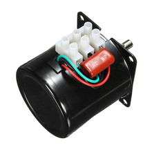 60KTYZ 220V 14W Permanent Magnetic Electric Synchronous Motor Gear 50Hz 15r/min New Arival(China)