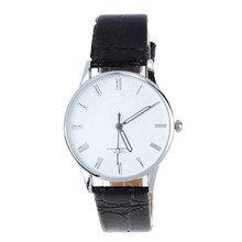 best quality and Large amount choices Classic Men's Roman Number Quartz Electronic Leather Wrist Watch White Dropshipping