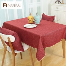 Free shipping Fashion linen cotton dining tablecloth for dining room cafe restaurant(China)