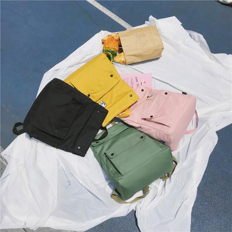 Menghuo Brand Female Women Canvas Backpack Preppy Style School Lady Girl Student School Laptop Bag Cotton Fabric bolsasAXNP2331