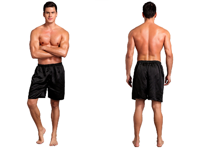 Men Sexy Silk Satin Sleep Bottoms Solid Lounge Pants Soft Pijama Short Summer Sleeping Shorts Home Pajama Pants Sleep Pants 4
