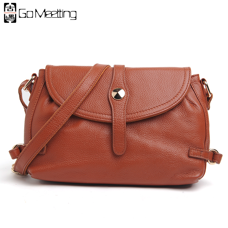 Go Meetting Brand Genuine Leather Women Shoulder Bags High Quality Cowhide Ladies Crossbody Bag 6color Messenger Bags WD13<br>