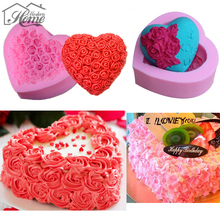 1pc Heart Shape Silicone Cake Mold DIY Chocolate Soap Molds Sugar Craft Cake Decorating Tools Form For Kitchen Dining Bakeware