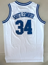 Stitched Basketball Jersey Jesus Shuttlesworth #34 Lincoln He Got Game Blue White S-3XL Free Shipping(China)