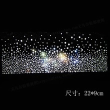 22*9cm 10piece/lot Hot Fix Rhinestones motif crystal pearl Heat Transfer design iron on garment dress
