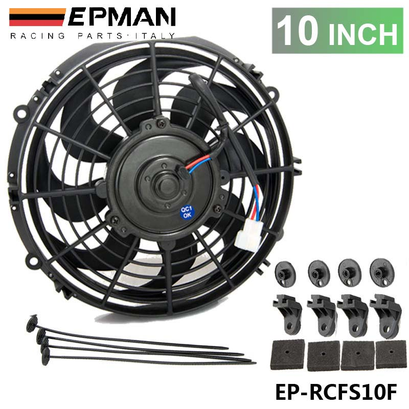 "PIVOT - New 10""inch EPMAN Electric Universal Cooling Radiator Fan Curved S-Blade 2900 CFM Reversible EP-RCFS10F"