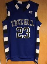 One Tree Hill Ravens Lucas Scott #3 Movie Jersey Hill Nathan Scott #23 Ravens Basketball Jersey Blue(China)