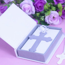 30PCS Boxed Blessings Silver Bible Cross Bookmark Party Favor Graduation Birthday Bridal Christening Wedding Decoration