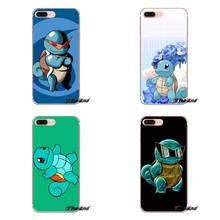 cute cartoon anime Pokemon Squirtle Soft Silicone Case Apple iPhone X 4 4S 5 5S SE 5C 6 6S 7 8 Plus 6sPlus 6Plus 7plus 8plus