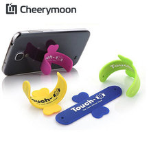 One touch wing design silicone stand Rubber Cell phone sucker Holder For Samsung Galaxy Note 4/S6 For iphone 7 /plus