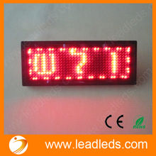 Promotion,Buy four send one Scrolling LED Sign LED Name Badge Tag Message Rechargeable/Muti-languages red color Advertising/80mm(China)