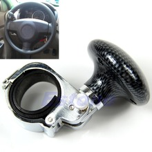 Hickory Black Silver Car Auto Steering Wheel Suicide Spinner Handle Knob Booster