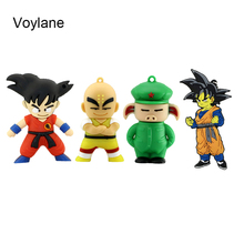 Voylane Cute Cartoon Goku Kuririn Gifts pen drive  16GB 32G Dragon Ball Usb Flash Drive Pendrive memory stick USB creative gift