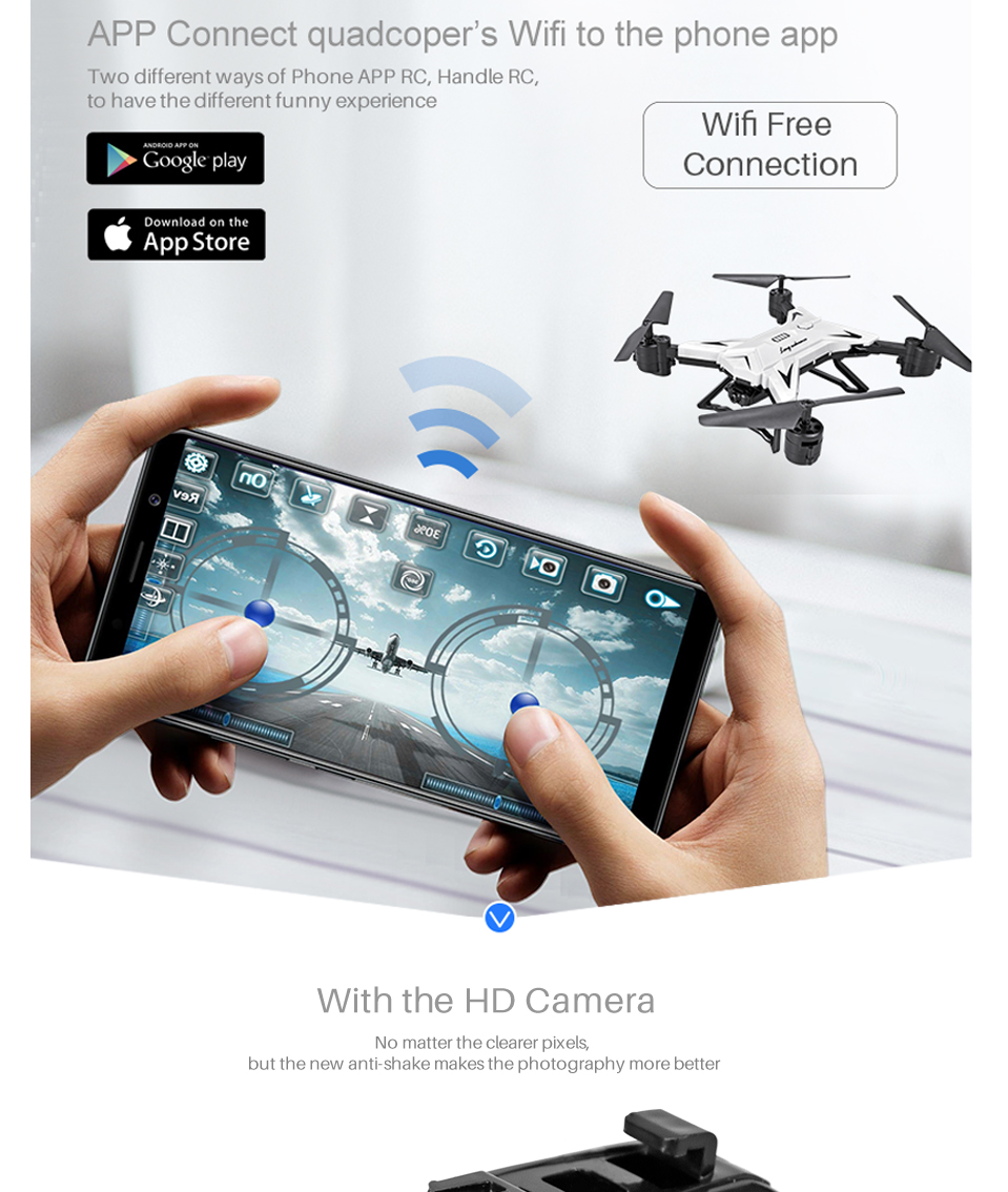 T-Rex RC Helicopter Drone with Camera HD 1080P WIFI FPV RC Drone Professional Foldable Quadrocopter Long Battery Life 5