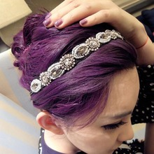 Fashion Beads Headband Crystal Hairband Women Hair Accessories Hair Jewelry for Female Muti- use Bracelet