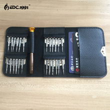 Outdoor camping 25 in1 Portable  Multifunction Mini Precision  Screwdriver Wallet  Repair Tool Set EDC Tools Free shipping!