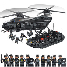 135Military Swat Team model building blocks transport helicopter Compatible Legoed Star Wars Enlighten Bricks children Toys - Tumama Official Store store