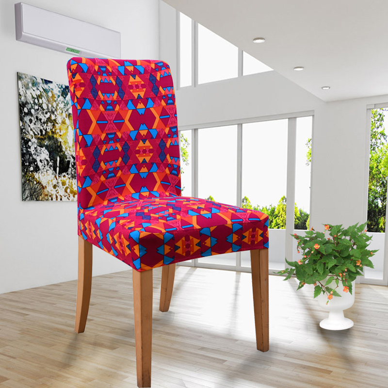 19 Printed Color Spandex Stretch Dining Chair Cover Restaurant For Weddings Banquet Folding Hotel Chair Covering(China (Mainland))