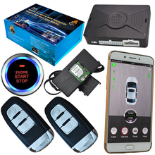 auto car alarm security system smart phone stop engine by checking car running speed gps online tracking(China)