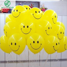 Holiday Supplies Smile balloon  10-inch Thicken Yellow Interest Birthday Party Arrangement balloon