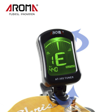 Aroma AT-355 LCD Display Electric Tuner Clip-on Tuner For Chromatic Bass Violin Viola Ukulele Guitar Parts Musical Instruments(China)