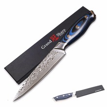 GRANDSHARP 5 Inch Utility Knife 67 Layers Japanese Damascus Stainless Steel VG-10 Cooking Tools Kitchen Damascus Chef Knife NEW(China)