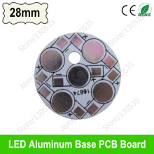 5 leds 28mm aluminum heatsink base plate board, 5W LED PCB board for 1W 3W high power led bead, Heat sink board for bulb light
