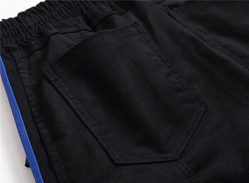 2018 Men Jeans Punk Embroidery Boy Trend Ripped Jeans Black Hip Hop Biker Denim Pants Cowboys Young for Man Trousers Streetwear