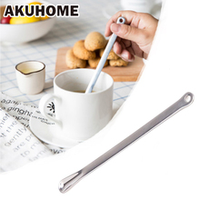 18/8 Food Grade Stainless Steel Long Handle Stirring Spoon Stir Bar Coffee Milk Tea Latte Stirring(China)