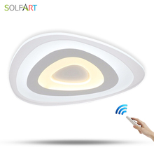 SOLFART ceiling lights dimming original lamp LED ultrathin flat modern acrylic home ceiling lights 3 section light GMX2262(China)