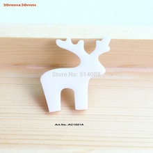 (80pcs/lot) White Christmas Deer Eco-Friendly Acrylic Gift Crafts Mosaics Art Projects -AC1021A