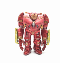 SAINTGI Ironman Ultron Avengers2 Hulkbuster Marvel Figures Q MK44 PVC 17cm Magic Animation Minifigures Collection Globos