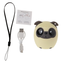 Bluetooth Wireless Cute Animal panda dog Sound Speaker Portable Clear Voice Audio Player VTB-BM6 TF Card USB for Mobile PC(China)