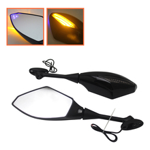 2pcs Motorcycle LED Turn Signal Side Rearview Mirror Amber For Honda CBR250R/600RR/900RR/929RR/954RR/1000RR/CBR600F F2 F3 F4 F4I