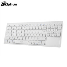 Alphun Portable durable Silver/Gold Ultra Thin Design Bluetooth 3.0 Wireless Keyboard For IOS Android Windows PC Computer(China)