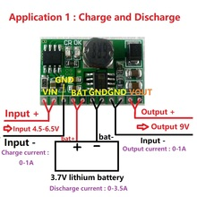 10W Charger & Discharger Board DC-DC Converter Step-up Module Charge-in 4.5-6.5V Boost-out 9V for Wifi Ethernet router UPS diy(China)