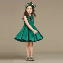 Baby Kids Girl Top Fashion Sequined Flower Summer Party Dress Girls Children Evening Dresses Clothes Vestidos