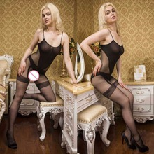 Buy Hot Sexy Lingerie Sexy Bodystockings Women Sexy Costumes Underwear Intimates Sex products Open Crotch Stockings Women Teddies
