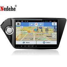 Nedehe Quad Core 9 inch HD 1024*600 Screen Android 6.0 Car DVD (NO) GPS for Kia RIO K2 Navigation System Radio Stereo Head Unit(China)