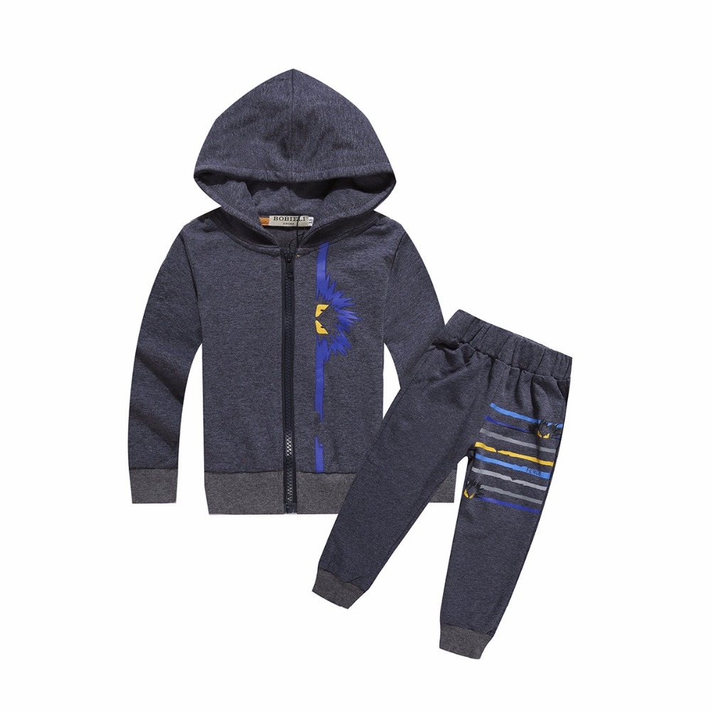 Pre-sale 2017 Winter Baby Boys &amp; Children Sports Fashion Brand Design 2-7 Year Children Tracksuits Girl Coats + Trousers Clothes<br><br>Aliexpress