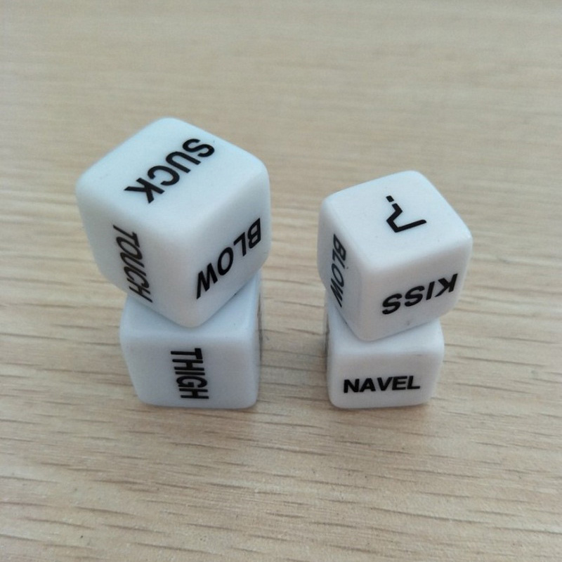 2PCS lot Dices Sex Toys for Couples Romance Love Humour Dices Games Erotic Craps Pipe Sex Dices juegos sexuales Adults Game (2)